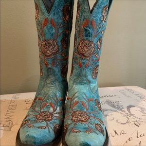 Turquoise boots by Luchesse